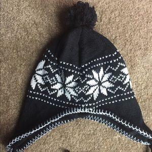 Other - Children Winter Black Snowflake Hat